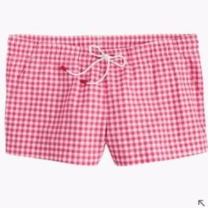 J. Crew board short in gingham pink size M S22